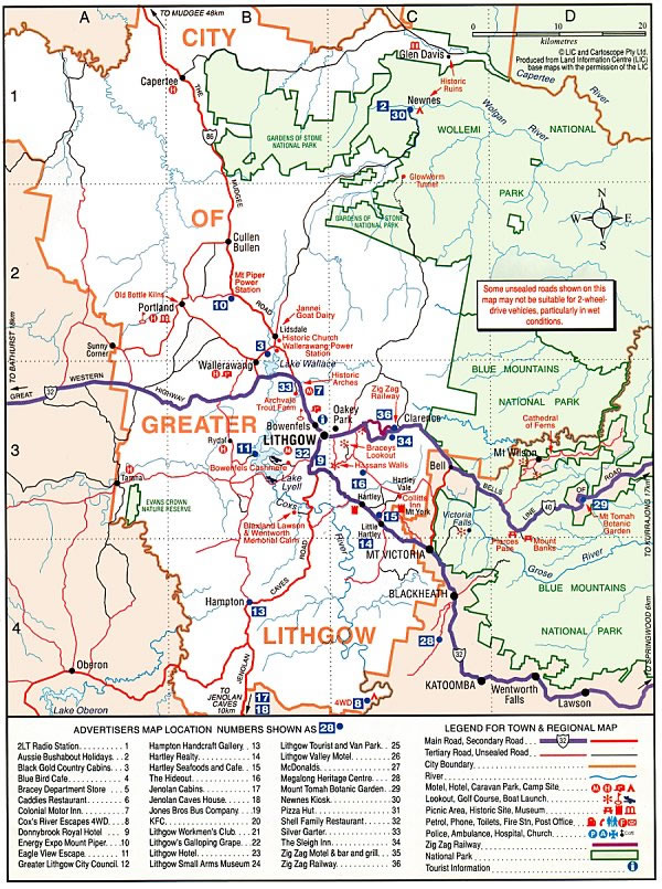 [Map of City of Lithgow]